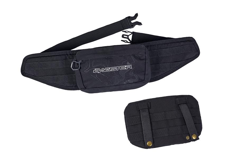 それぞれ取り外したミニポーチとウエストベルトを組み合わせることでウエストバッグとしてもご使用いただけます。