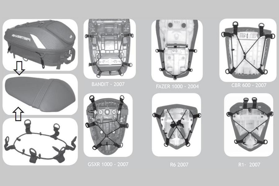 固定のベースとなるフィッティングキットは、様々なシートに対応可能です。